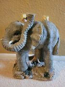 Unique Vintage Resin Elephant Plant Stand 12 Tall