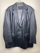 Bgsd Genuine Leather Long And Tall Mens Jacket Black Stitch Winter Coat 2xlt Large