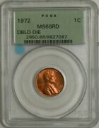 1972 Lincoln Cent 1c Doubled Die Ms66 Rd Pcgs 944796-9