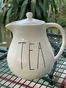 Rare Early Rae Dunn Chubby Teapot By Magenta M Stamp Discontinued Htf