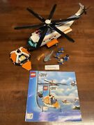 Lego City 7738 - Coast Guard Helicopter And Life Raft 100 Complete - No Stickers