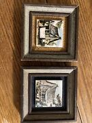 Clyde E. Gray Hand Painted Tiles- Two