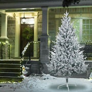 Artificial Christmas Tree White Snow Covered Christmas Decorations With Stand