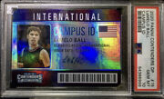 2020 Panini Contenders Lamelo Ball Rookie Campus Id Auto Hornets Psa 10 Pop 5