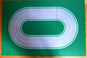 Lot Of 6 Lego Vintage Road Base Plates Green 32 X 32 - Makes Oval - Excellent
