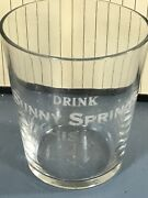 Vintage Quincy Illinois Sunny Springs Whiskey Pre Prohibition Shot Glass