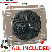 4 Row Radiator+shroud Fan+relay For 70-73 Dodge Plymouth Small Block 22 Wide Us