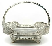 Antique Pairpoint Silver Plate Ornate Bride's Basket Butterflies Gorgeous Early