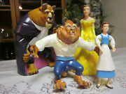 Vintage Lot Disney Beauty And The Beast Hand Puppets And Figurines