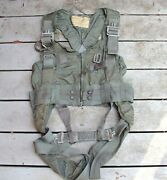 Named Usn Va-56 Ma-2 Torso Ejection Seat Harness 1970 100 Missions Vietnam Used