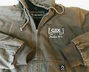 Dri-duck Cheyenne Hooded Coat Csx Railroad Menand039s L Rugged Outdoors Lined Brown