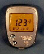 Diabetic Glucose Test - Ascensia Contour Meter - Tested And Working + Case