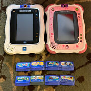 Vtech Innotab 2 2s Lot Hand-held Learning Game System Touch Screen With 8 Games
