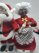 Vintage Telco Motionettes Of Christmas Musical Black Santa And Mrs Claus 14 1994