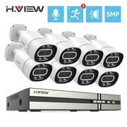 H.view 8ch 5mp Cctv Security Cameras System Home Video Surveillance Kit Ai Face