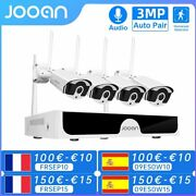 Jooan 8ch Nvr Hd 3mp Cctv Camera System Audio Record Outdoor P2p Wifi Ip Securit