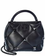 Valentino Roman Stud The Handle Small Leather Shoulder Bag Womenand039s