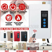 110v Tankless Electric Hot Water Heater Instant Shower Instant Bathroom Kitchen