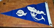 Vintage New Taylor Made 18and039and039 Boat Flag Pennant Simonton Lake Club Mermaid Obc