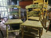 L.hitchcock Limited Edition Christmas Chairs 593/1000. 1124/2000. 1985/1986
