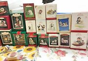 Hallmark Frosty Friends Lot Of 26 Ornaments And Frosty Stamp