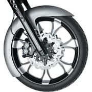 Russ Wernimont Rwd 19 Front Wrapper Fender 6 W Ls-3 Flared Harley Flh/t 14-20