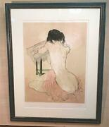 Jansen Nude In The Back Lithograph Autograph Edition Available
