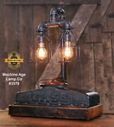 Steampunk Industrial Machine Age Lamp Case Farm Radiator Table Lamp Tractor