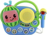 Ekids Cocomelon Toy Singalong Boombox With Microphone For Toddlers,microphone