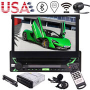 Bluetooth Single Din Car Radio Touch Screen Stereo Android 10.0 Cd Player+camera