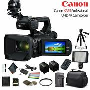 Canon Xa55 Professional Uhd 4k Camcorder 3668c002 W/extra Battery Soft Padded