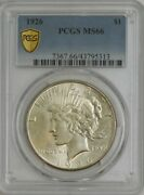 1926 Silver Peace Dollar Ms66 Pcgs Secure 944756-17