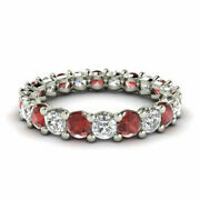 2.03 Ct Latest Real Diamond Ruby Platinum Wedding Band For Ladies Size 5 6 7 8 9