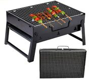 Bbq Barbecue Folding Portable Camping Grills Indoor Outdoor Stainless Steel Rack
