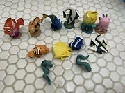 Vintage Disney Pixar Finding Nemo Pvc Figures Toys Cake Toppers Dory Squirt 12