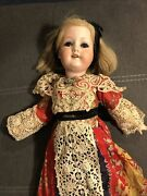Armand Marseille Antique Tall Lady German Bisque Doll Rare 390 Beautiful Dress