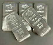 Lot Of 5 Silver 10 Oz Silver Pamp Suisse Silver Cast .999 Fine Silver Bars
