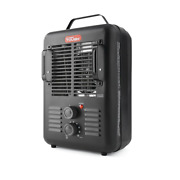 Space Heater Fan-forced Type 1500w Utility Indoor Home Office Personal Black New