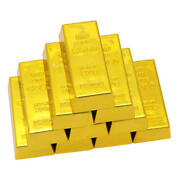 100pcs Fake Gold Bar Bullion Paper Weight Prop Desk Ornaments For Kids Toy