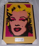 Andy Warhol Signed Framed 28x41 Marilyn Monroe Poster Display