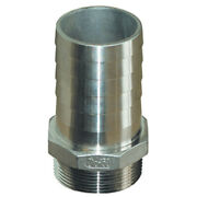 Groco 1-1/4 Npt X 1-1/4 Id Stainless Steel Pipe To Hose Straight Fitting