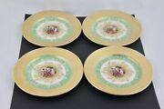 Set Of 4 Le Mieux China Hand Decorated 24 Karat Gold 6andrdquo Bread And Butter Plates