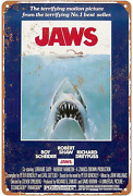 Kensilo Metal Sign Jaws Movie Poster Vintage Retro Tin Signs Bar Man Cave Wall D