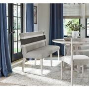 Universal Furniture Modern Farmhouse Upholstered Banquette In White And Grey