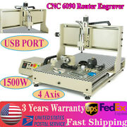 Usb 4 Axis Cnc 6090 Router Engraver 3d Wood Metal Cutting Mill Machine 1.5kw
