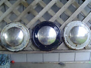 3 Vintage 1936 1939 Ford Pickup Truck Dog Dish Center Caps Hubcaps Wheel Covers