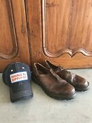 Wwii German Military Mens Boots Shoes W/ Rrl Hat Mountaineer Chukka Size 10
