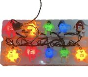 💚mandmandrsquos Candy Decoration Christmas Happy Lights Set Of 10 - 1 Bulb Out See Pics