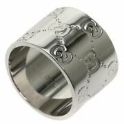 Ring Icon Wide 11 K18 White Gold