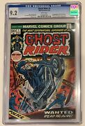 1973 Ghost Rider 1 1st Cameo Damion Hellstrom Cgc 9.2 White Pages